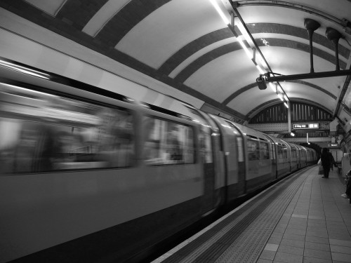 Stand clear of the closing doors. London Underground, August 2012.