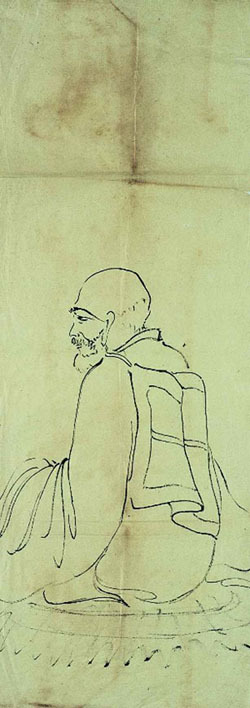 Buddist Monk, Chao Shao-an, undated, ink on paper.