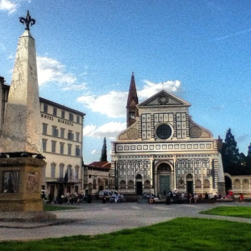 Picturesque. #firenze  (Taken with Instagram at Basilica di Santa Maria Novella)