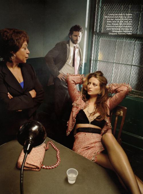aova:  law & order. noot seear by mark seliger for harper's bazaar nov 2009