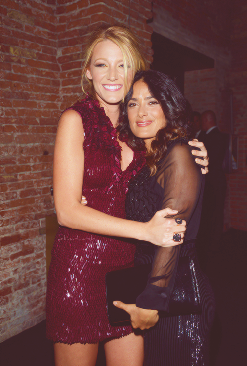 Blake Lively and Salma Hayek in Venice - September 1, 2012