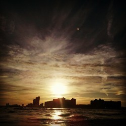 #GulfShores #Sunset #Dark #Beach #Clouds #Alabama #Vactionsies (Taken with Instagram)