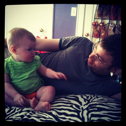 Daddy & daughter. #baby #iphoneonly  (Taken with Instagram)