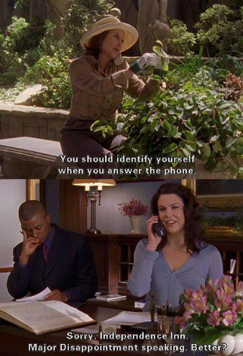 Lorelai and Emily are really funny in all the series of Gilmore Girls.