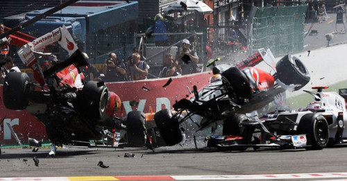 robintheghost:  Photo of the startcrash - Spa 2012