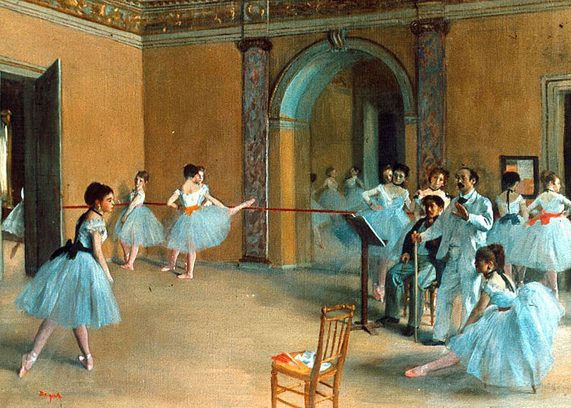 artandfashi0n:  Rehearsal of the Scene Edgar Degas