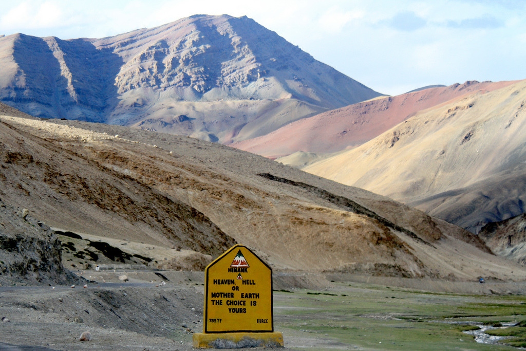 Himalayan road sign via Ashutosh Garg