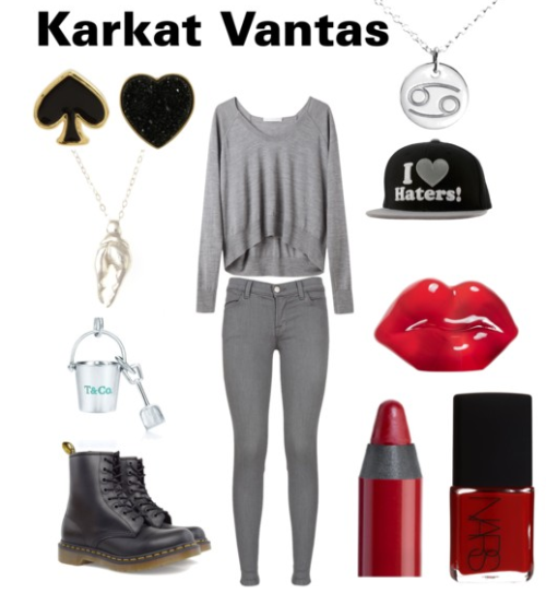 A Fashionstuck set inspired by Karkat Vantas as requested by textbookguitarist.
