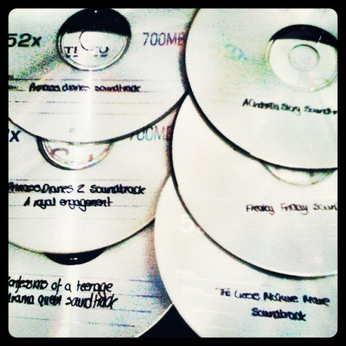 day 220: old cds, i still love a soundtrack :) #heynow (Taken with Instagram)