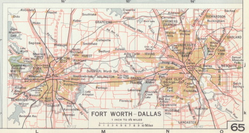 places-on-paper:  Fort Worth-Dallas