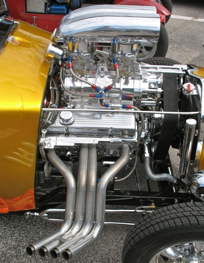 Too Much is Never Enough! Street rod is powered by supercharged Chevy awash with chrome and polished goodies.