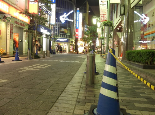 streetlights, around Shinjuku south gate