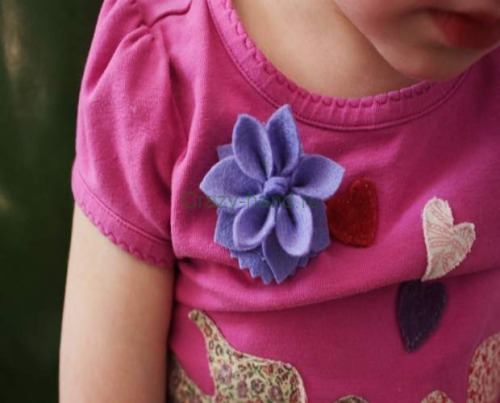 Flower brooch or pin tutorial