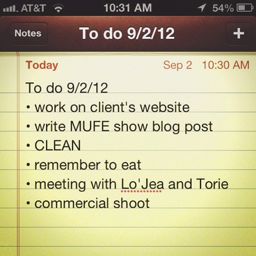 Today's agenda. (Taken with Instagram at B.Pockets Studios)