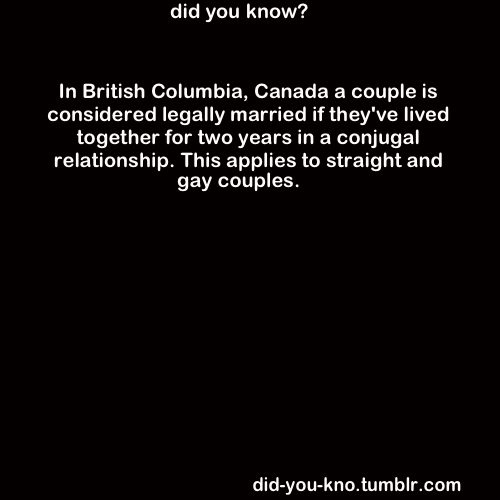 did-you-kno:  Source  Almost married then :)