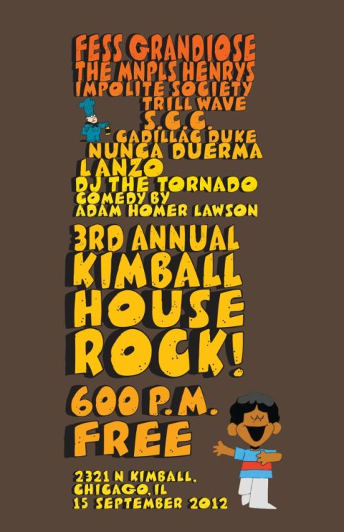 3rd Annual Kimball House Rock!