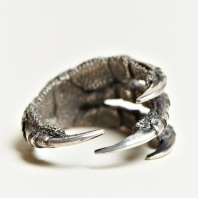 blackpaint20:  Claw ring, Pamela Love