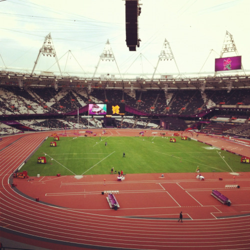 Inside the Olympic Stadium, Stratford London