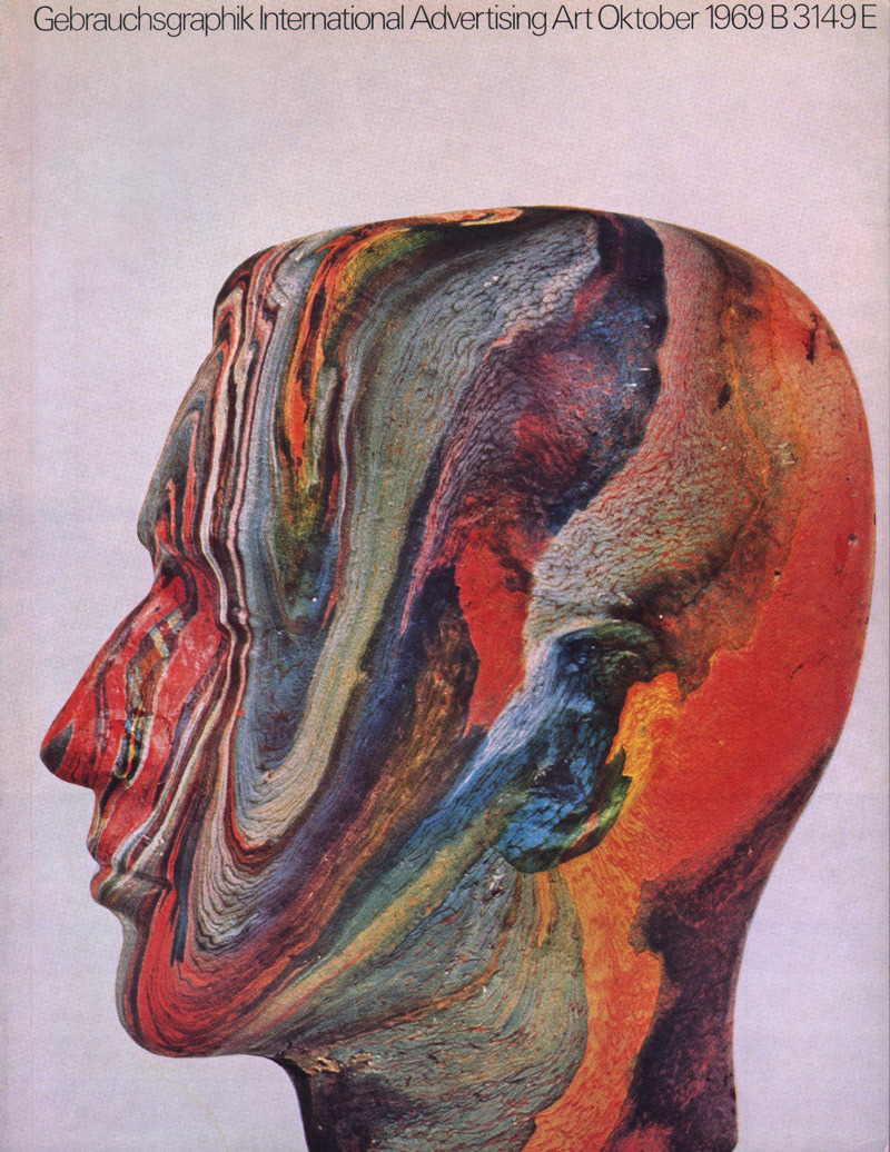 arpeggia:  Gebrauchsgraphik magazine, Oct. 1969 cover  Yo fence paint.
