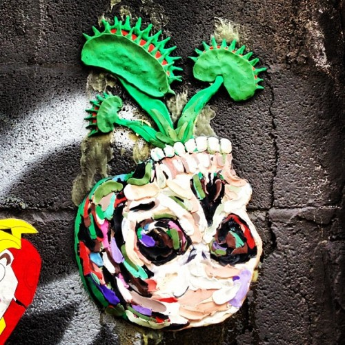 Skull in Williamsburg #streetart  (Taken with Instagram)