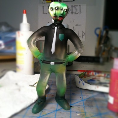 Quick MonstreHero custom I painted for my brother. #resin #toys  (Taken with Instagram)