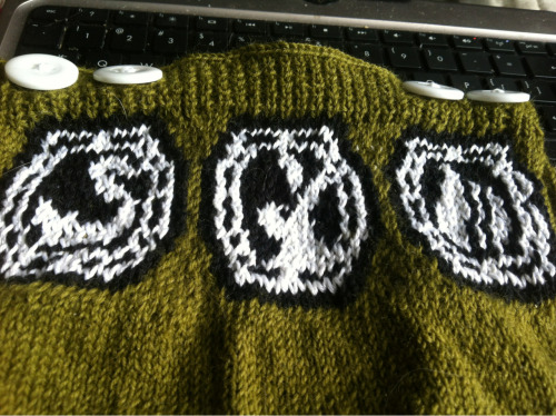 Baby sweater for my friend's baby. He's obsessed with lost.
