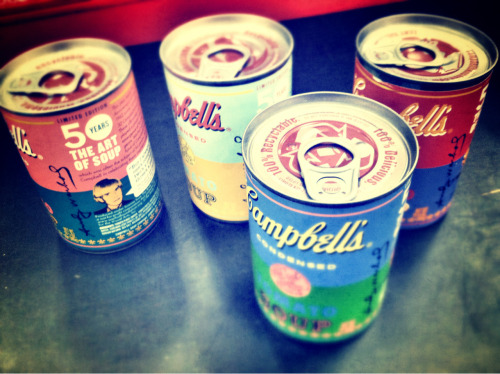 NICE CANS. Just picked up my own set of Andy Warhol limited edition soup cans from Target!