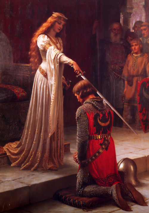 lostsplendor:  The Accolade [1901], Oil on Canvas by Edmund-Blair Leighton