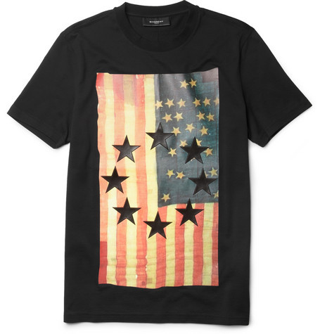 Givenchy Flag Print T shirt $475