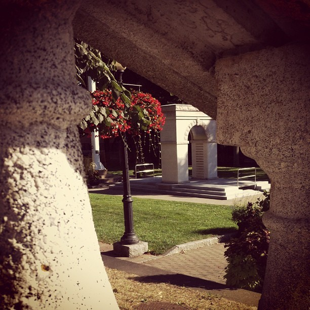 Concrete dreams.  #flowers #monuments #naturalbeauty  #ispy  (Taken with Instagram)