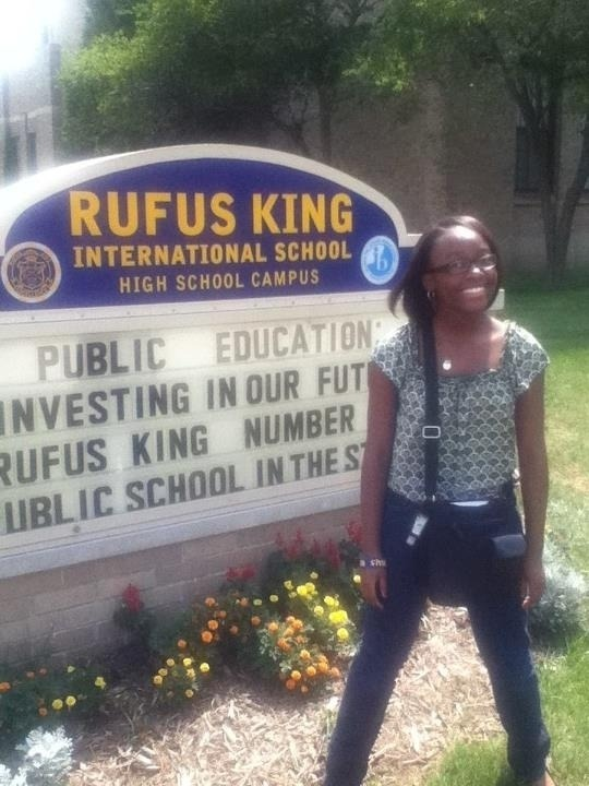 Loren-LeNae Tooson Freshman at Rufus King High School I'm in High School Now!