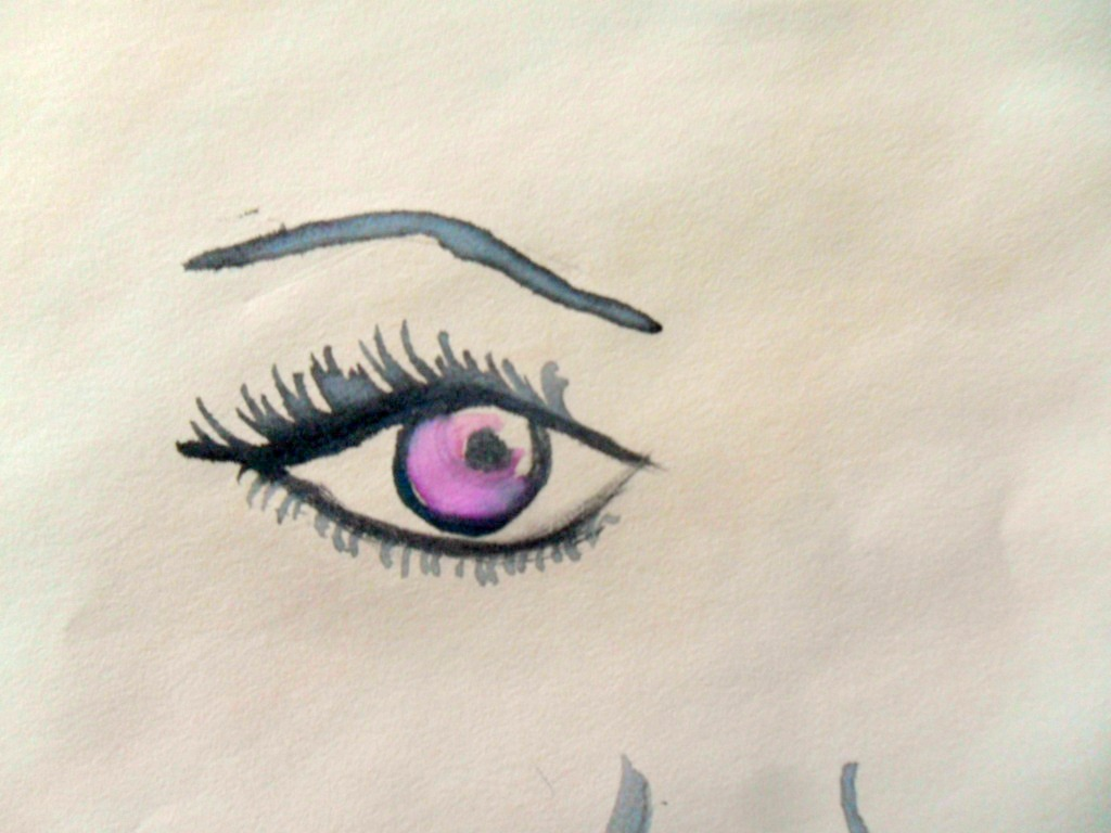 i love drawing eyes.