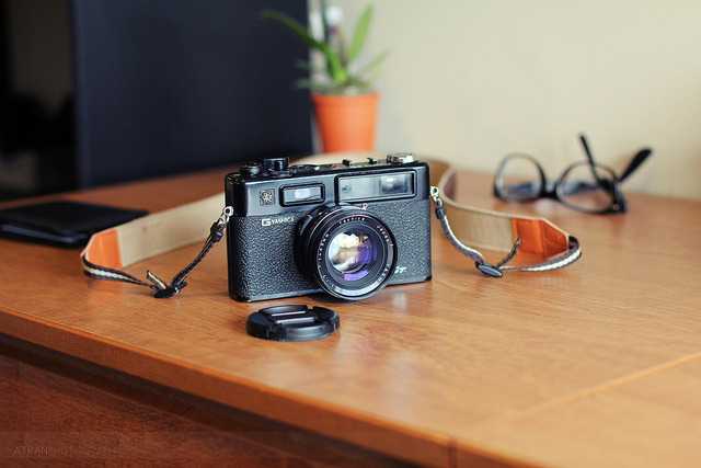 GT on Flickr. Via Flickr: My Yashica GT caught some good lighting while sitting on my desk :)