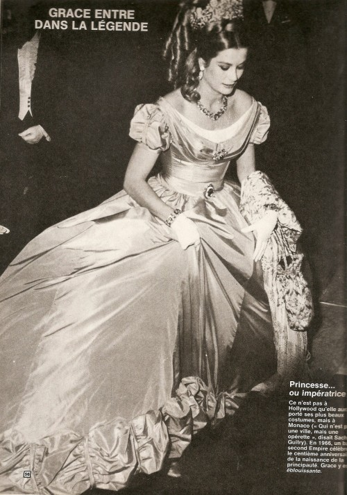 "Grace wears ""my"" dress at the Monte-Carlo Centennial Ball, 1966. ♥"
