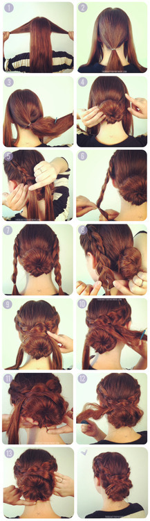 Another hot way to stay cool today: braided bun!