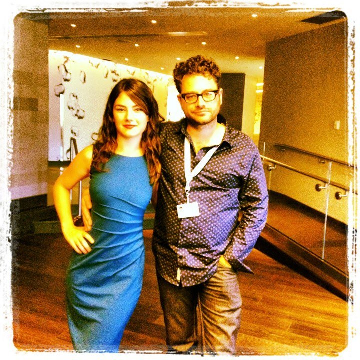 Katie Boland and Robert Cuffley at the Montreal World Film Festival.