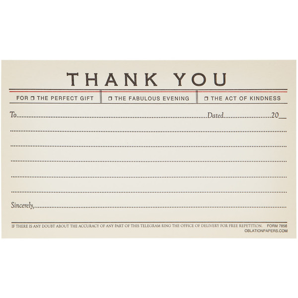 melany—rivera:   Thank You Telegram Note Cards ❤ liked on Polyvore
