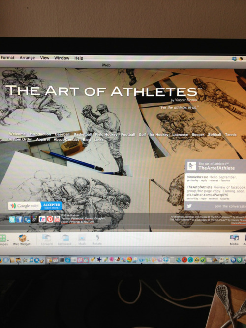 Website update for The Art of Athletes.