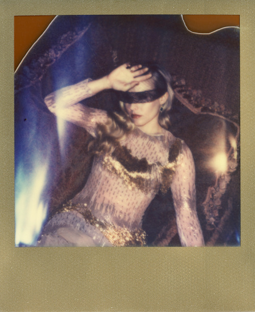 Kristen Bell photographed on Impossible Project film.
