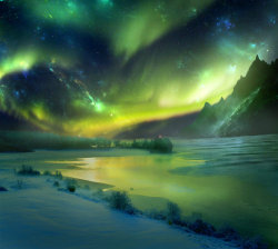 quebuenoesvivir:  Northern Skies by `Emerald-Depths
