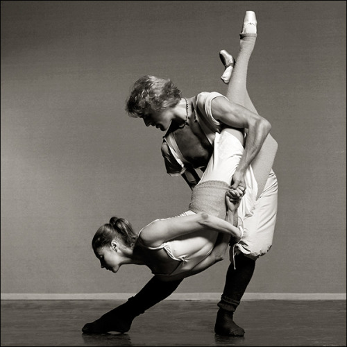 theballetblog:  Farrell and Peter Martins, 1976