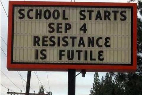 nevver:  Resistance is futile  HA yes it is
