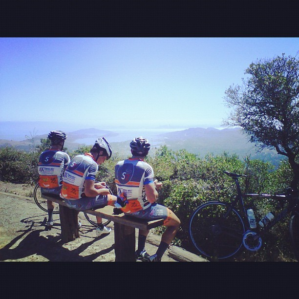 @stage17racing: Climbed to the top of Mt Tam today before the Giro di SF tomorrow. (Taken with Instagram)