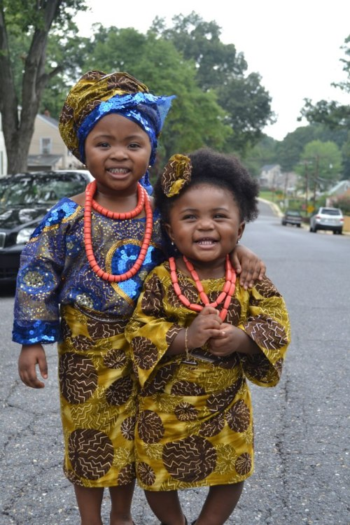 "queennubian:  blackandkillingit:  This is the new African style called ""OLEKU"" hope u guys like our pic…tnx  the babies!!!"