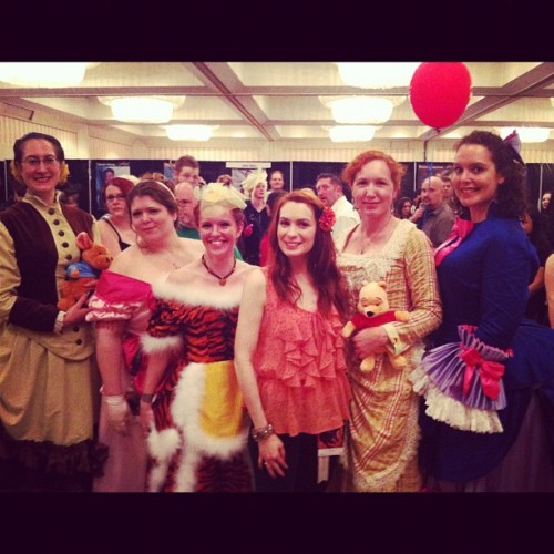 Winnie the Pooh themed Victoria Ladies?!?  #dragoncon  (Taken with Instagram)
