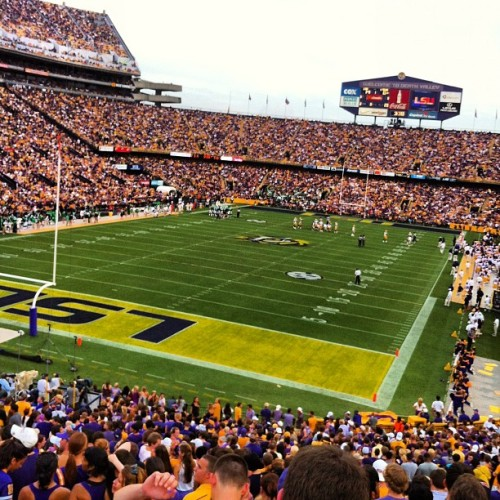#LSU vs UNT (Taken with Instagram)