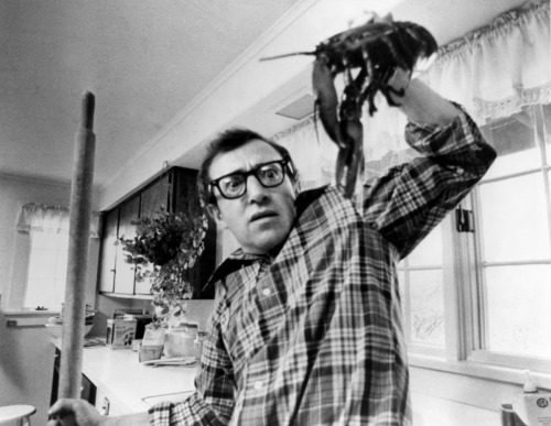 superseventies:  Woody Allen in 'Annie Hall', 1977.  Lobstah!