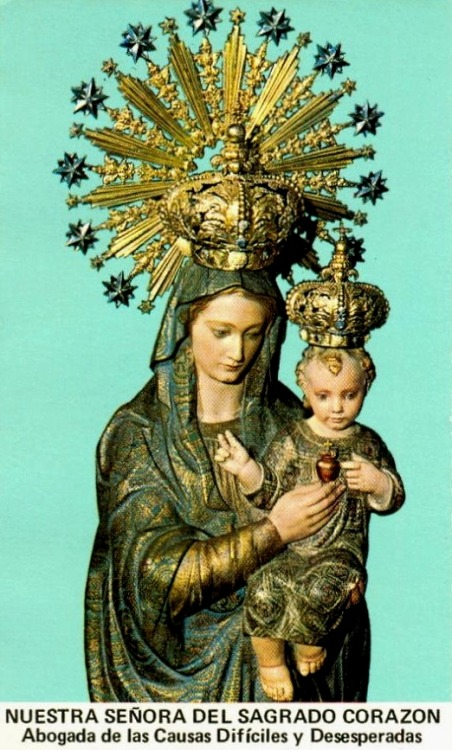 Nuestra Señora del Sagrado Corazón Our Lady of the Sacred Heart, patroness of difficult and desperate causes.