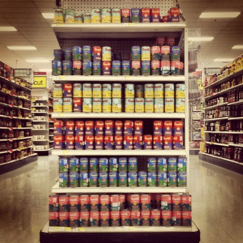 Had a craving for Campbell soup cans so I went to Target…  (Taken with Instagram)