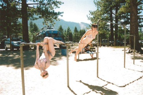 Oh what like you can resist a good pair of monkey bars or something???